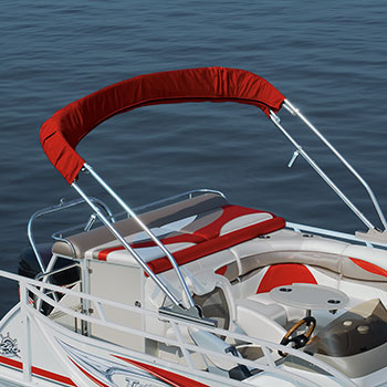 10' optional power bimini shown in radar position