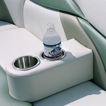 Optional movable stainless steel cupholder