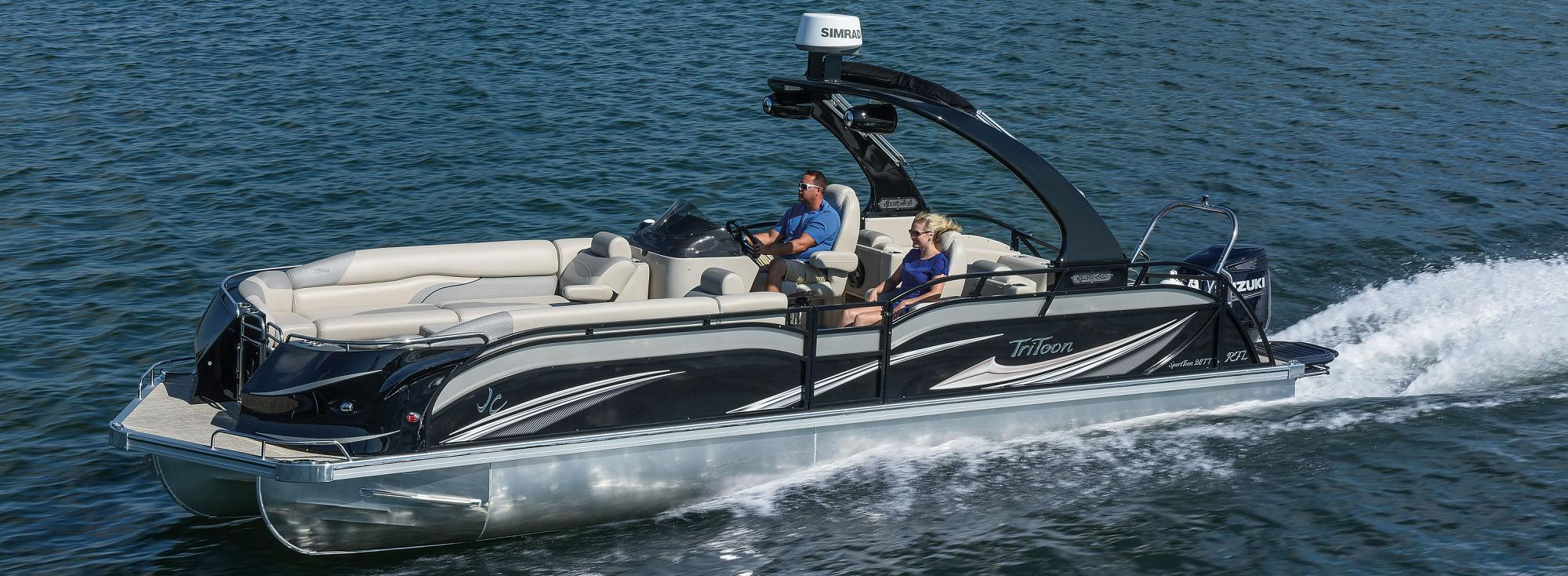 Jc tritoon marine pontoon boats for Pontoon boat without motor for sale