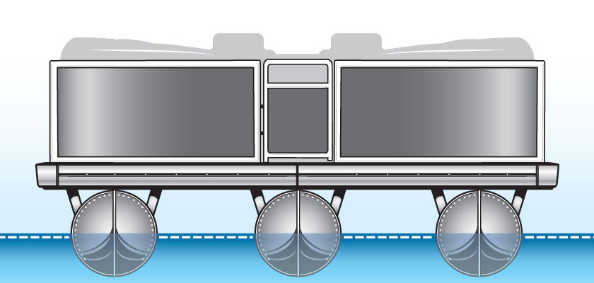 Competitor Pontoon Boat Hull