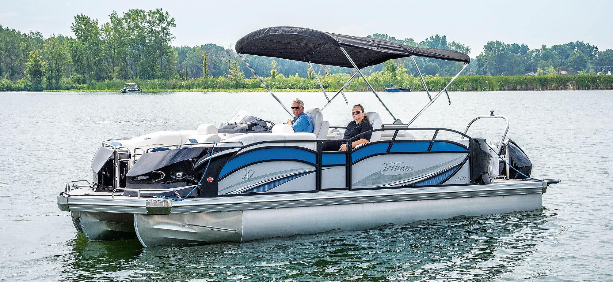 Sporttoon Pontoon Boats Jc Tritoon Marine Boat Electrical Wiring Diagrams Stereo 2019 24tt Hth Main