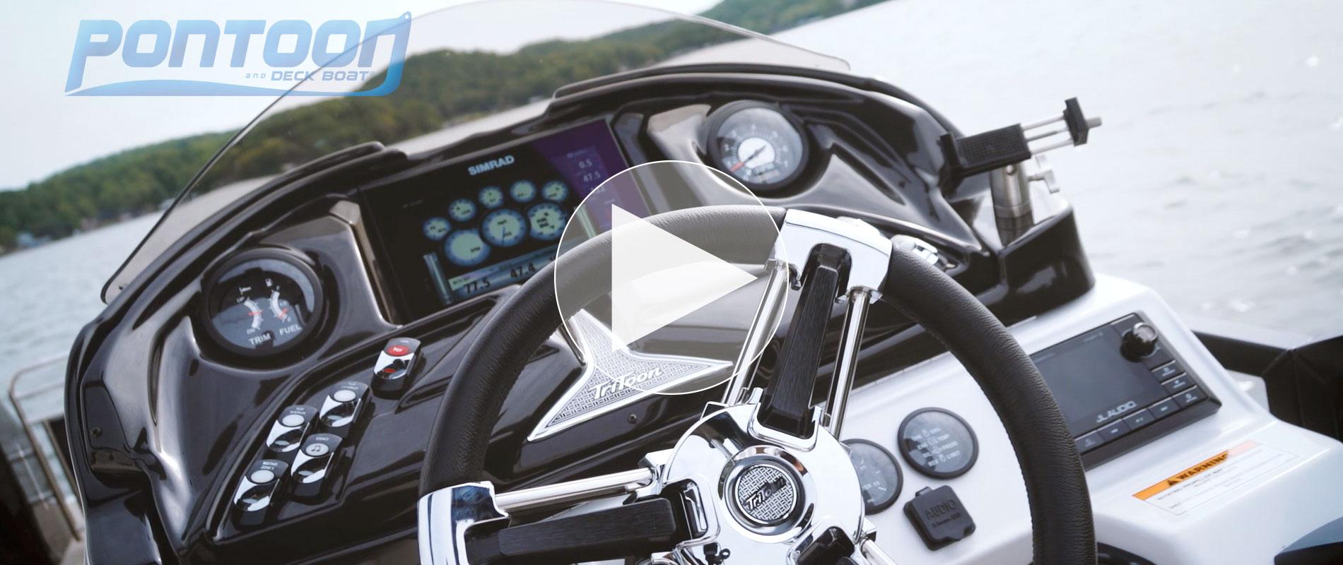 Sporttoon Pontoon Boats Jc Tritoon Marine Standard Boat Wiring Diagram Bass Magazine View Video Of The Deck 2018 Shootout Featuring 26tt Rfl